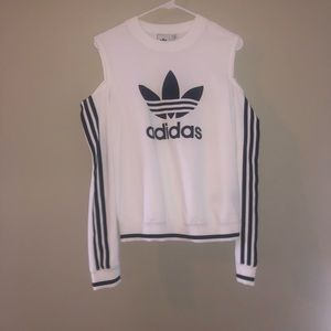 ADIDAS crew neck with shoulder cut outs